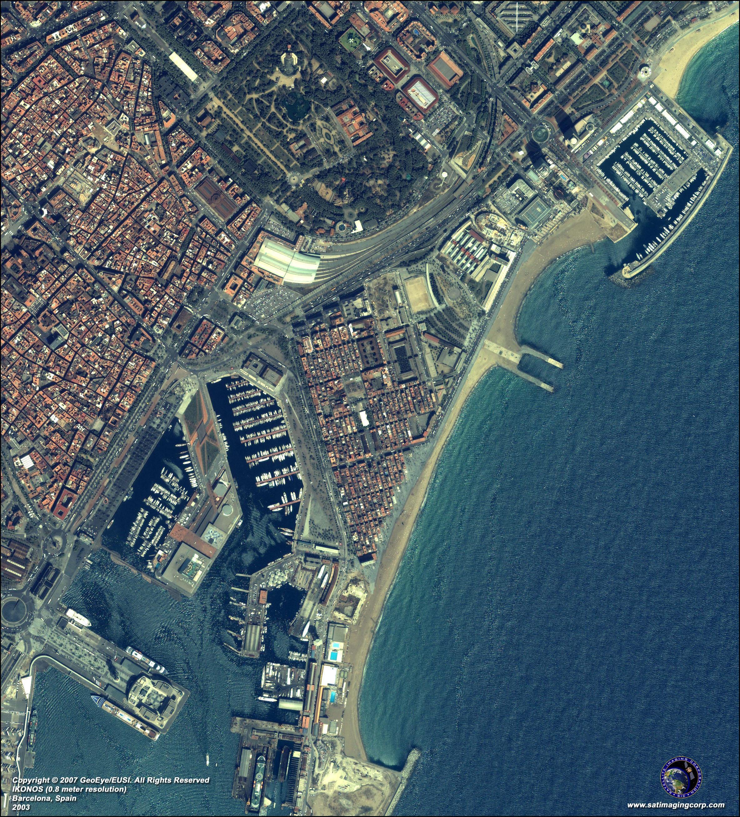 Satellite Map Of Spain.Barcelona Satellite Map Map Of Barcelona Satellite Catalonia Spain