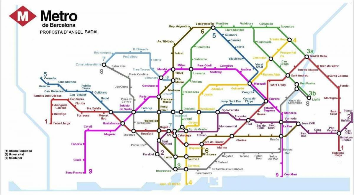 barcelona train and metro map