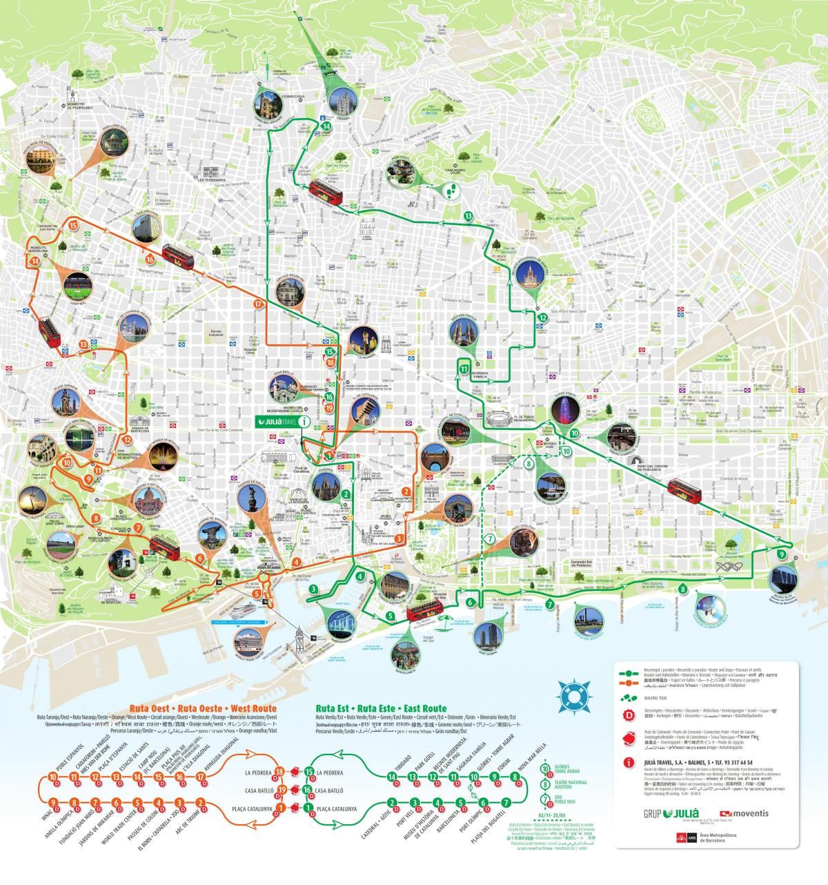 sightseeing barcelona map