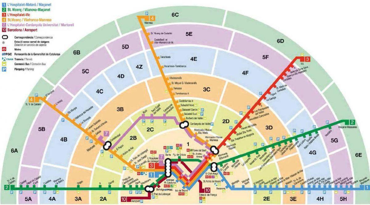 map of barcelona train zones