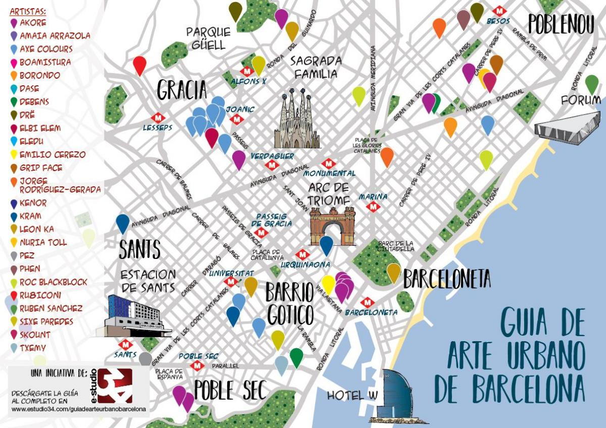 barcelona street art map