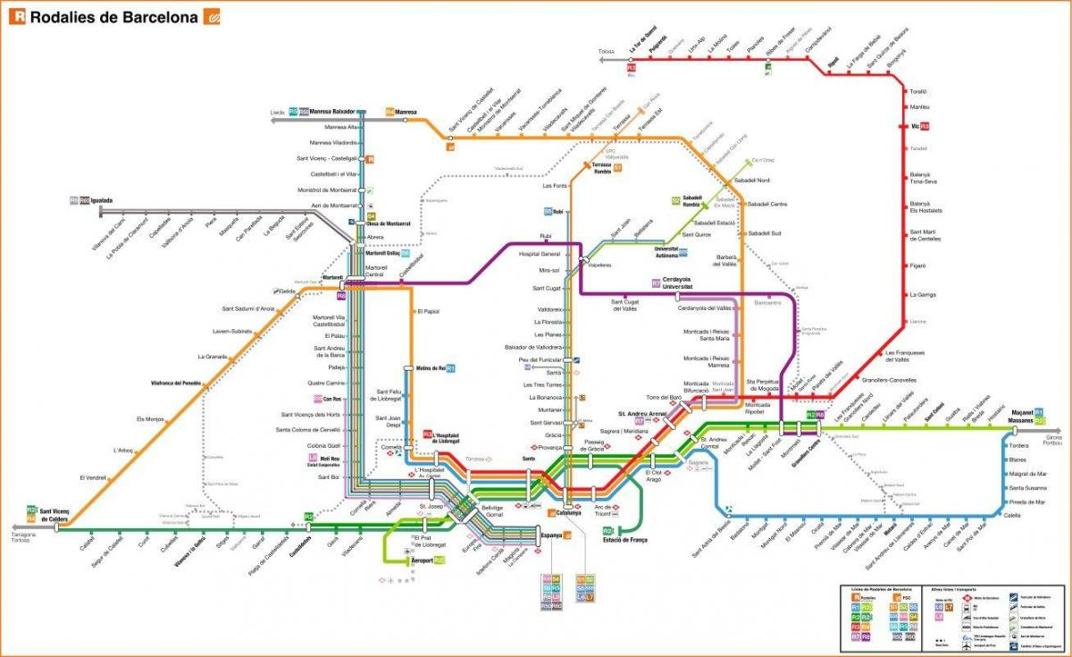 barcelona r train map