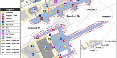 Barcelona airport t2 map