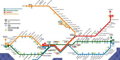 Barcelona train map from airport
