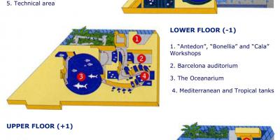 Map of barcelona aquarium