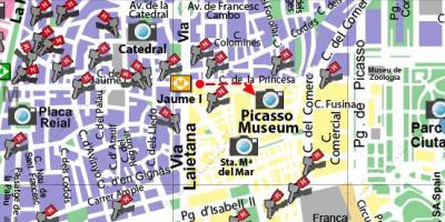 Map of barcelona art galleries