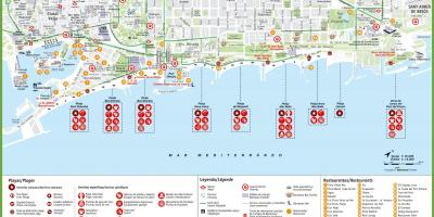 Beach map barcelona