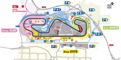 Map of barcelona circuit