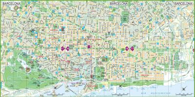 Barcelona city map tourist