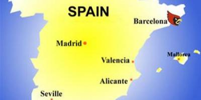 Map of barcelona country
