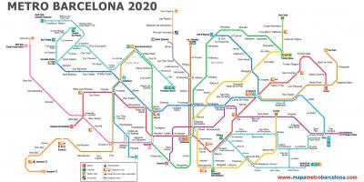 Barcelona airport metro map