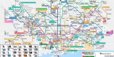 Barcelona metro map tourist attractions