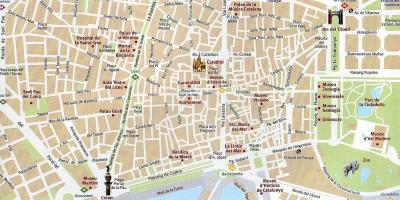 Map of barcelona old town