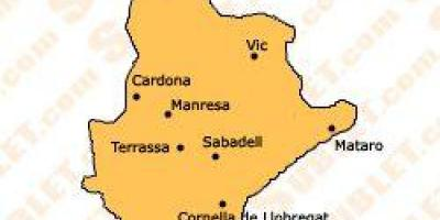 Map of barcelona province