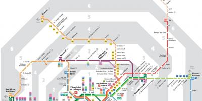 Barcelona transport map