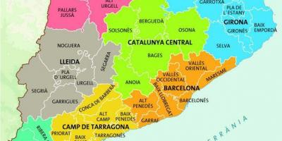 Map of barcelona region