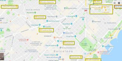 Map of barcelona restaurants
