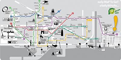 Barcelona tourist guide map