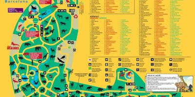 Map of barcelona zoo