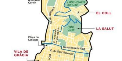 Map of gracia barcelona