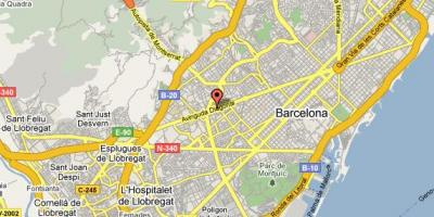 Map of hilton barcelona