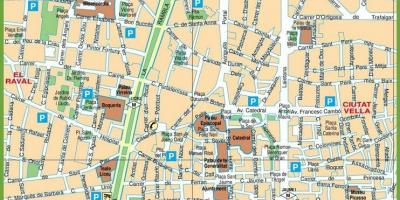 Map of las ramblas barcelona spain