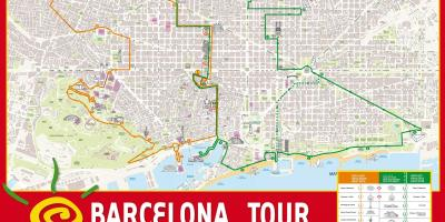 Map of red bus barcelona