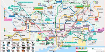 Map of things to see in barcelona