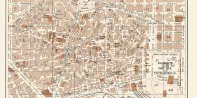 Map of vintage barcelona