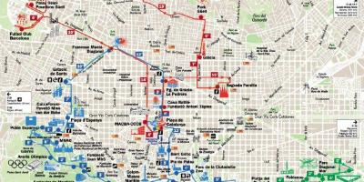 Map of barcelona spain walking